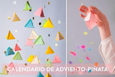 piñata advent calendar