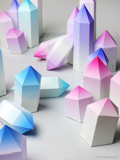 icy crystal advent calendar free printable