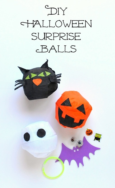 DIY Halloween surprise ball treats