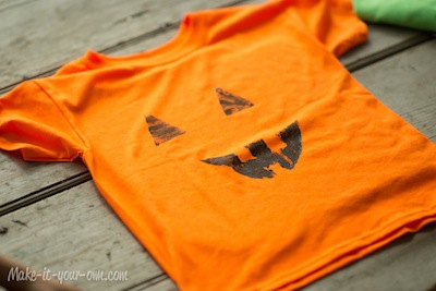cardboard stamped shirts for Halloween