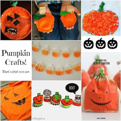 The Crafty Crow pumpkin crafts