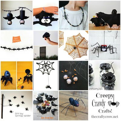The Crafty Crow creepy crawly crafts montage