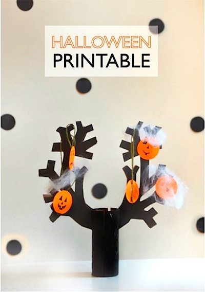 printable Halloween tree
