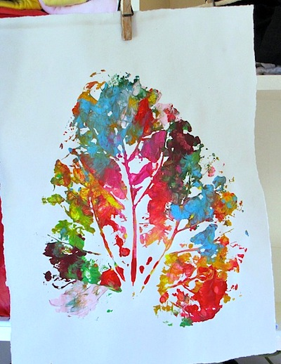 Large and Colorful Leaf Prints - Things to Make and Do