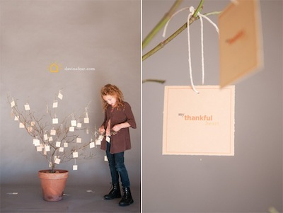 thankful tree with printable tags