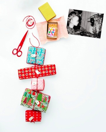 little packages tied on a string handmade advent calendars