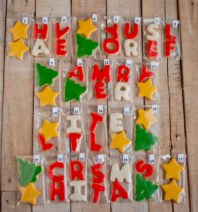make a cookie advent calendar