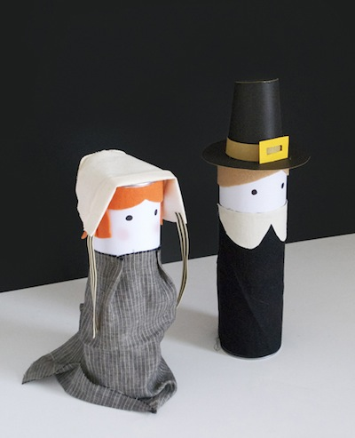 Pringle can Pilgrims DIY Thanksgiving kids craft
