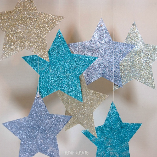 The Crafty Crow glitter stars craft for kids copy