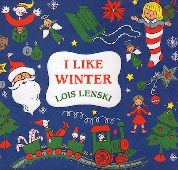 Bella Dia Book and Activity Advent I Like Winter and gumdrop trees