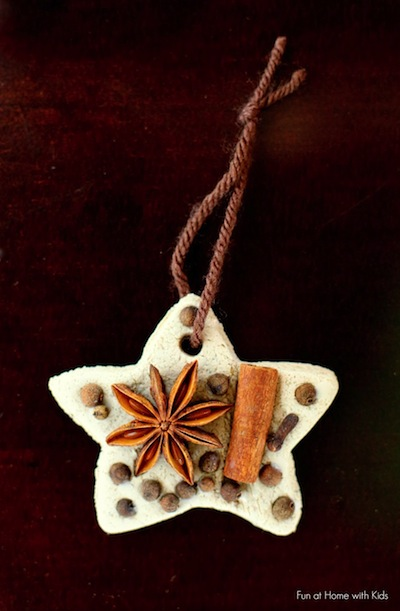 chai tea salt dough and whole spice ornaments kids can make