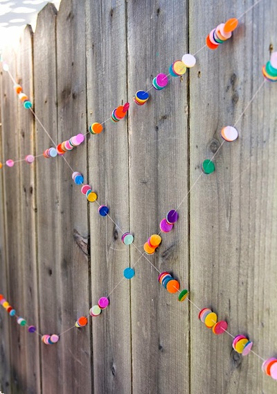 confetti garland New Year's Eve party decorations to make