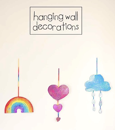 cardboard and paint wall hanging craft for kids
