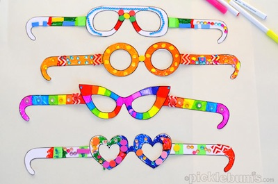 Free Printable Paper Sunglasses To Print And Color