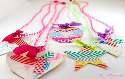 toddler necklace craft