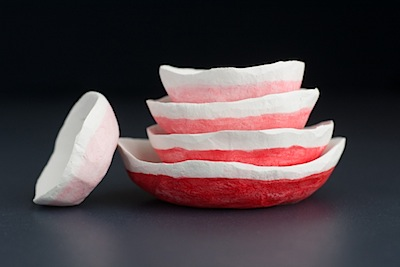 nested air-dry clay bowls tutorial