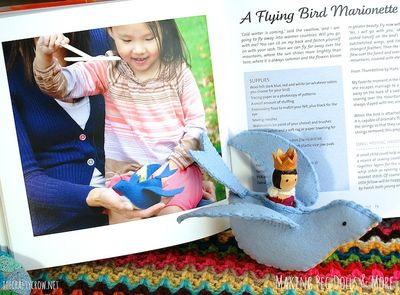The Crafty Crow Making Peg Dolls & More book felt bird marionette