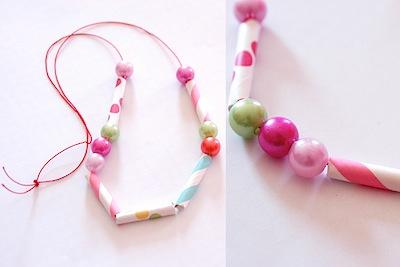 morse code Valentine necklace kids can make