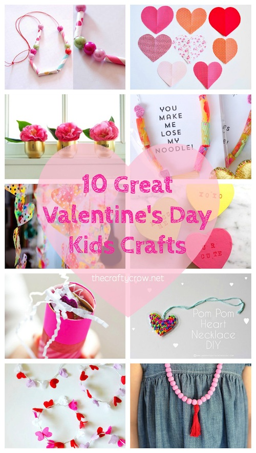 The Crafty Crow Valentine's Day crafts for kids collage