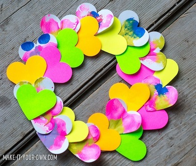 paper heart Valentine wreath