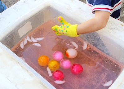 Colored Ice Balls Sensory Play Things To Make And Do Crafts And Activities For Kids The Crafty Crow