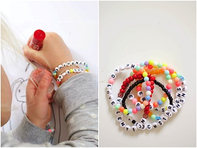 alphabet bead bracelets kids can make