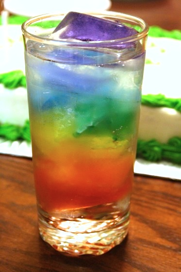 rainbow water a St. Patrick's Day drink for kids