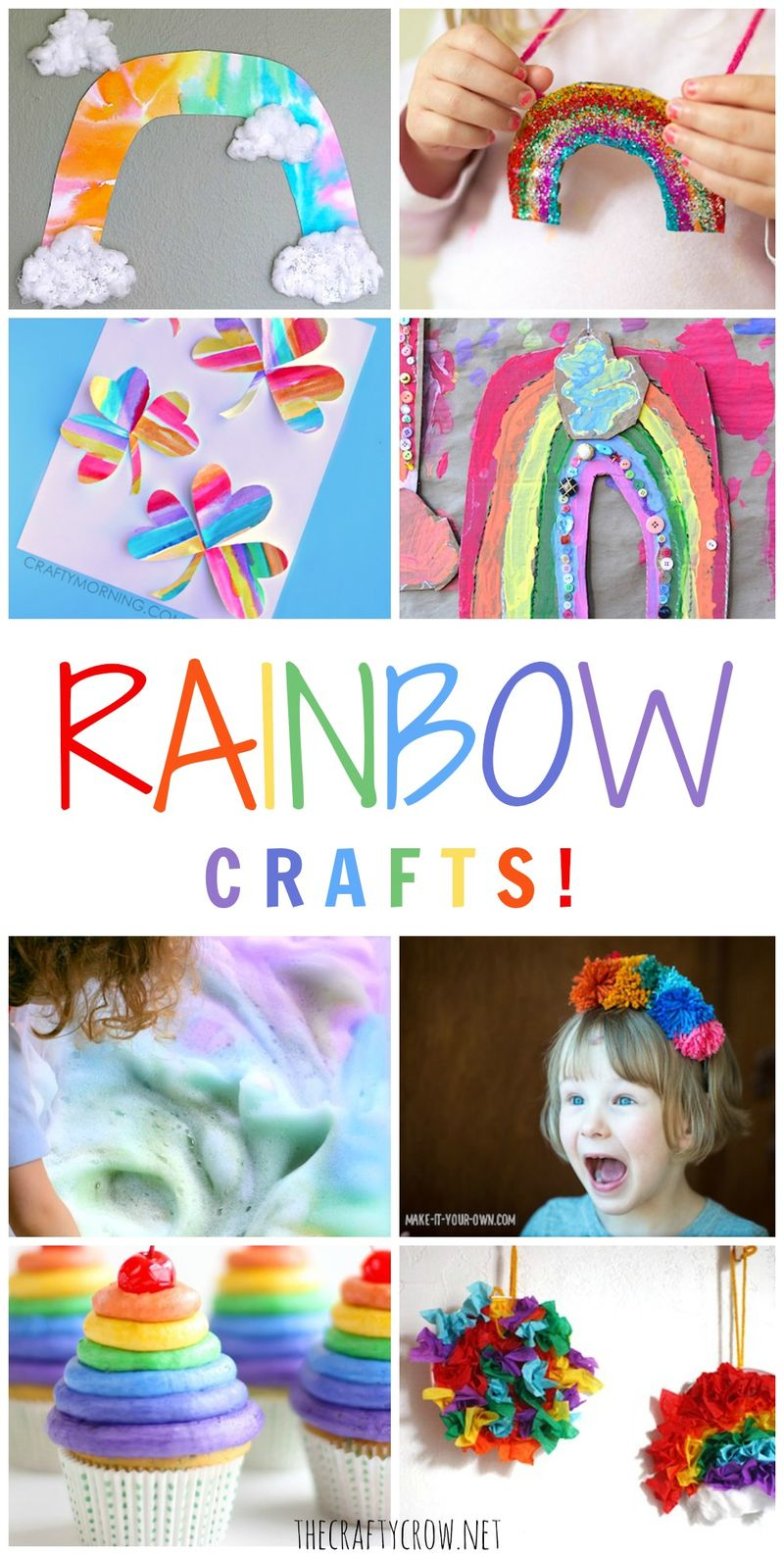 The Crafty Crow rainbow crafts for kids