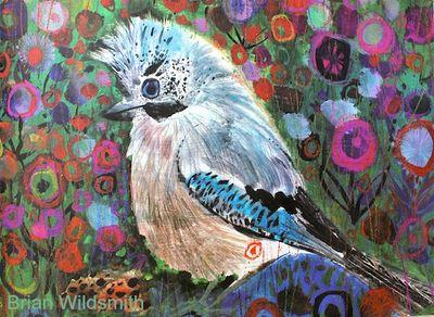 Brian Wildsmith's Birds blue jay BW