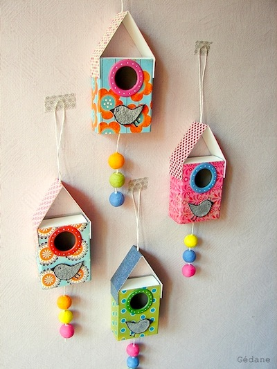 matchbox birdhouse craft