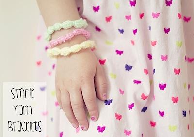 Let's Do Something Crafty yarn easy yarn jewelry