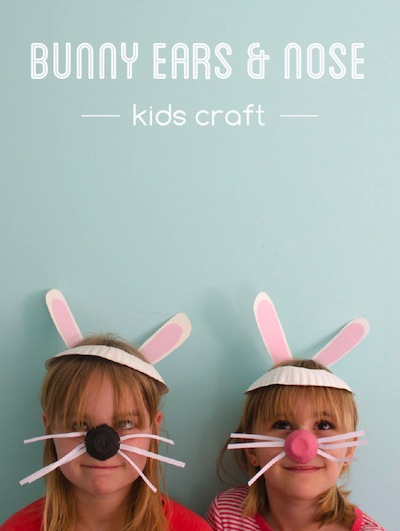 bunny ears and nose craft for kids