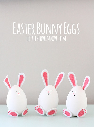 Easter bunny eggs decorating idea