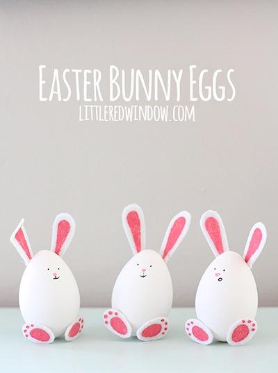 Easter bunny eggs decorating idea