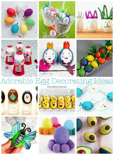 The Crafty Crow adorable ideas for decorating Easter eggs