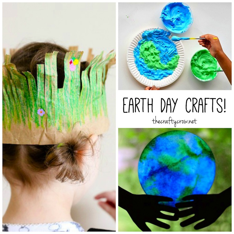 The Crafty Crow Earth Day crafts for kids