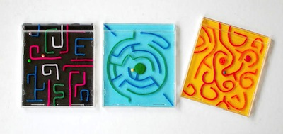 CD maze game DIY