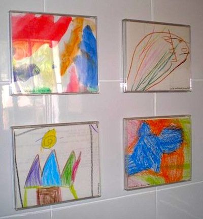 CD cases to frame children's art