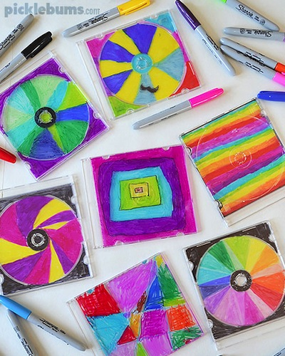 Picklebums make a CD case stained glass window