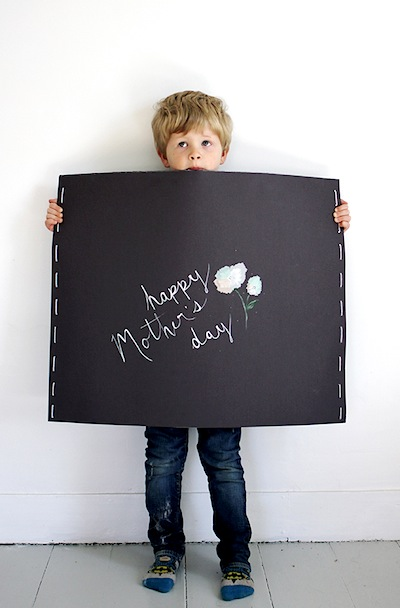 giant Mother's Day card kids can make