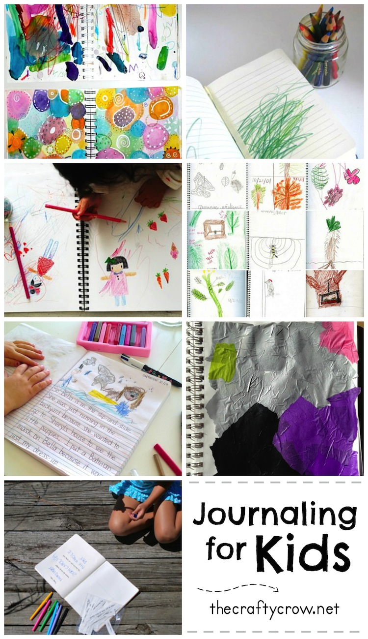 The Crafty Crow journaling ideas for kids