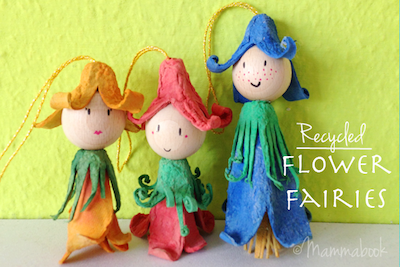 egg carton flower fairy tutorial