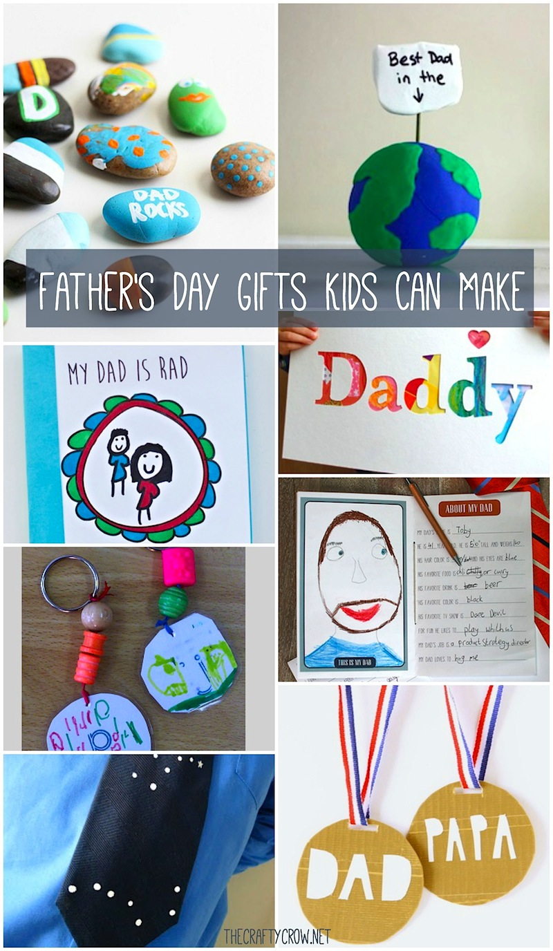 The Crafty Crow Father's Day gifts kids can make
