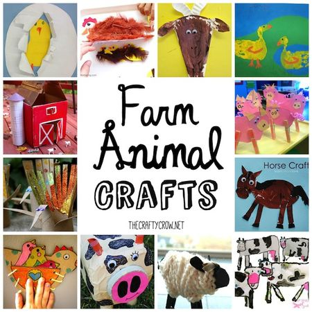 The Crafty Crow farm animal crafts for kids