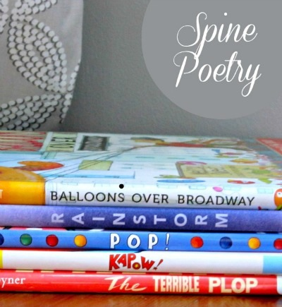 have you tried book spine poetry things to make and do crafts