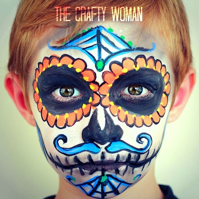 how to paint sugar skull face makeup
