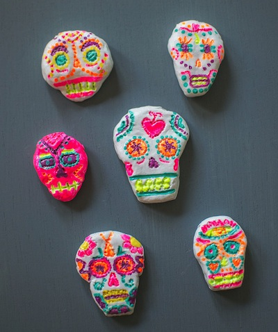clay sugar skull craft