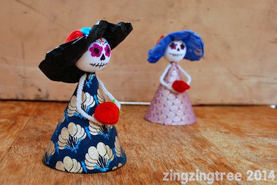 sugar skull doll kids craft for Day of the Dead