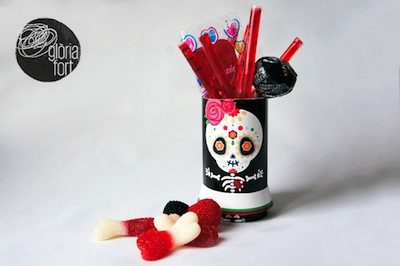 free printable Day of the Dead sugar skull