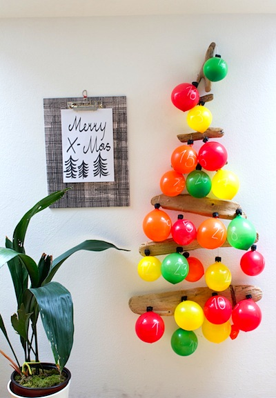 balloon advent calendar